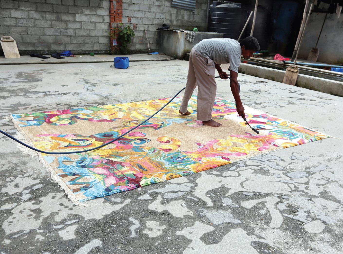 Productie tapijten door Deckers