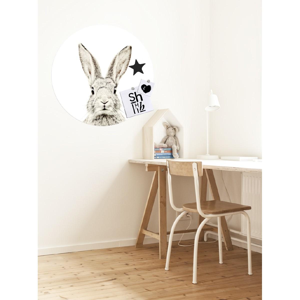 Sticker met konijn