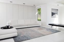 Blauw grijs tapijt