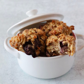Chocolate & Blueberry Oat Cookies