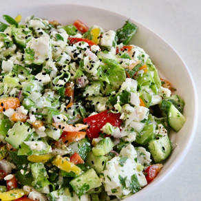 Veggie Loaded Feta Salad
