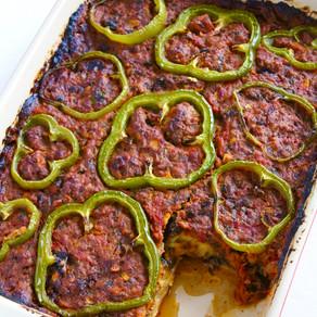 Misaga'a (Baked Eggplant & Meat Sauce)