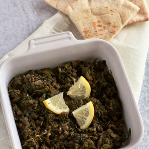 Stewed Spinach & Green Lentils