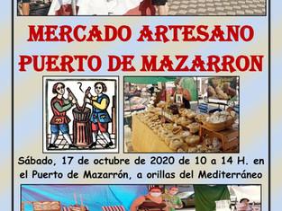 Mercado artesano del Puerto de  Mazarrón (Murcia)