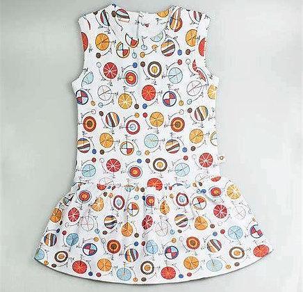 Vestido retrociclos bebé TUKUTUNO