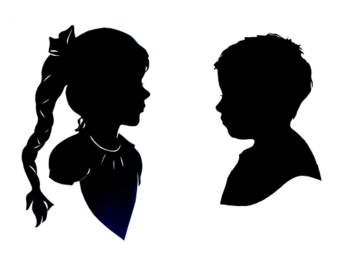 Two subject Silhouette / (two copies)