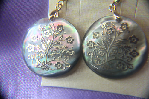 Fashion Abalone with Floral Design