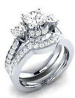 White Sapphire Wedding BandSet