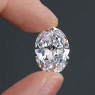15.5 ct White Sapphire