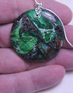 Green Jasper .925 Silver Chain