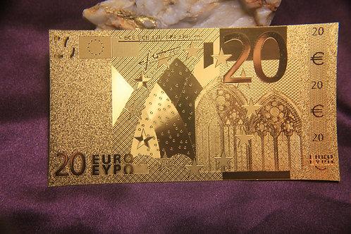 .9999 24 kt gold 20 EURO