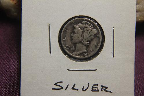 1942 - D Silver Mercury Dime