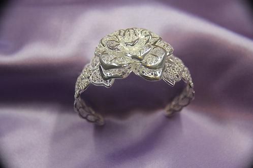 Floral Bracelet .925 Silver