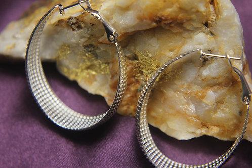 .925 Silver Stamped Earrings