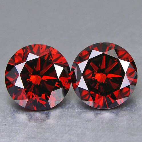 Matched Red Diamond Pair