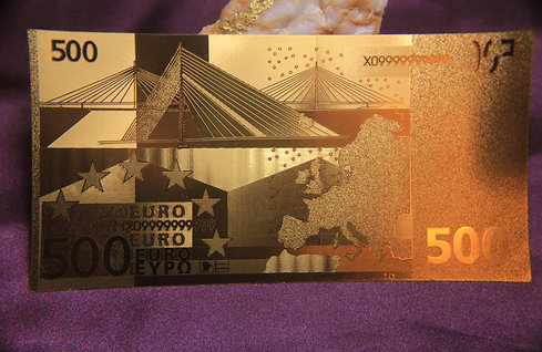 .9999 24 kt gold 500 EURO