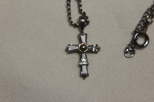 Sterling Silver Cross with Swarovski Crystal