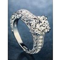 Elegant Round White Sapphire