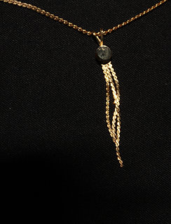 Golden Necklace with three strands