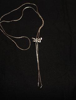 Sliding Silver Butterfly Necklace
