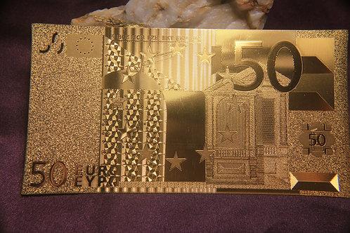.9999 24 kt gold 50 EURO