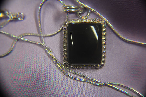 .925 Silver with Black Onyx