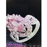 Marquise Cut Pink Topaz, White Topaz