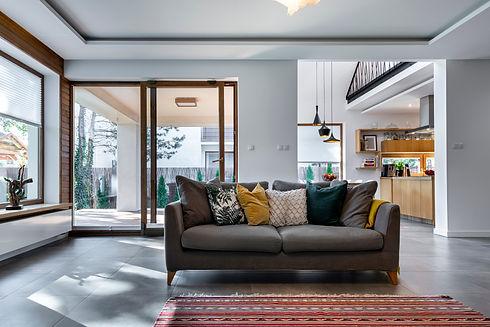 Modern interior design - livingroom with