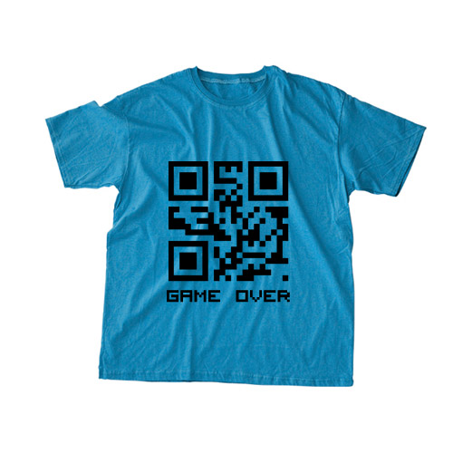 QRCode Tee Blue