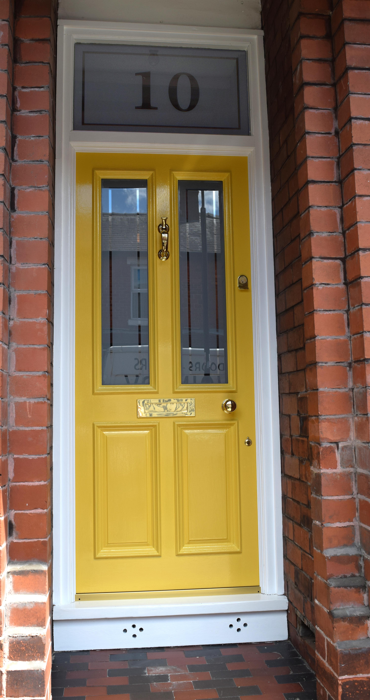 Liz S Gorgeous Yellow Grand Victorian Front Door