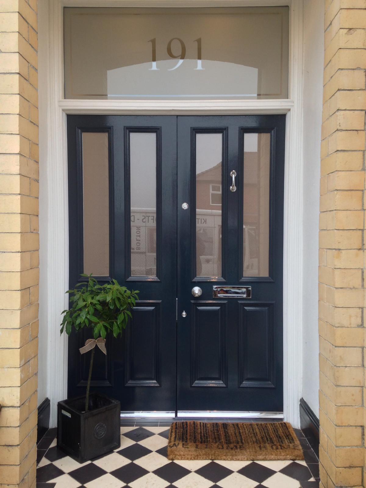 The grand victorian wooden front door for Grand entrance doors