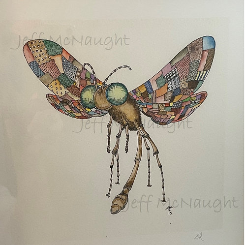 Quilt-Wing Wasp - framed print