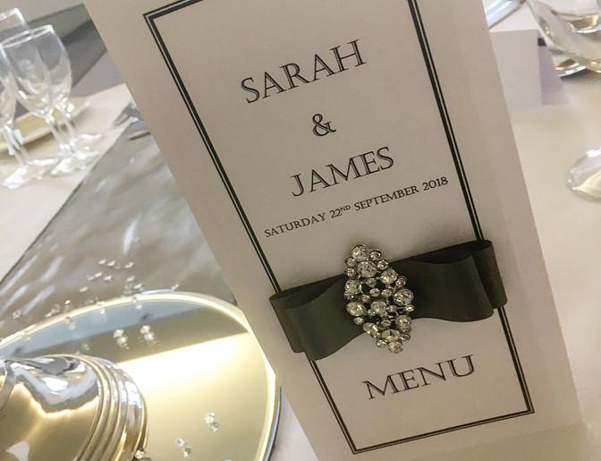 Amour  Wedding Table Menu