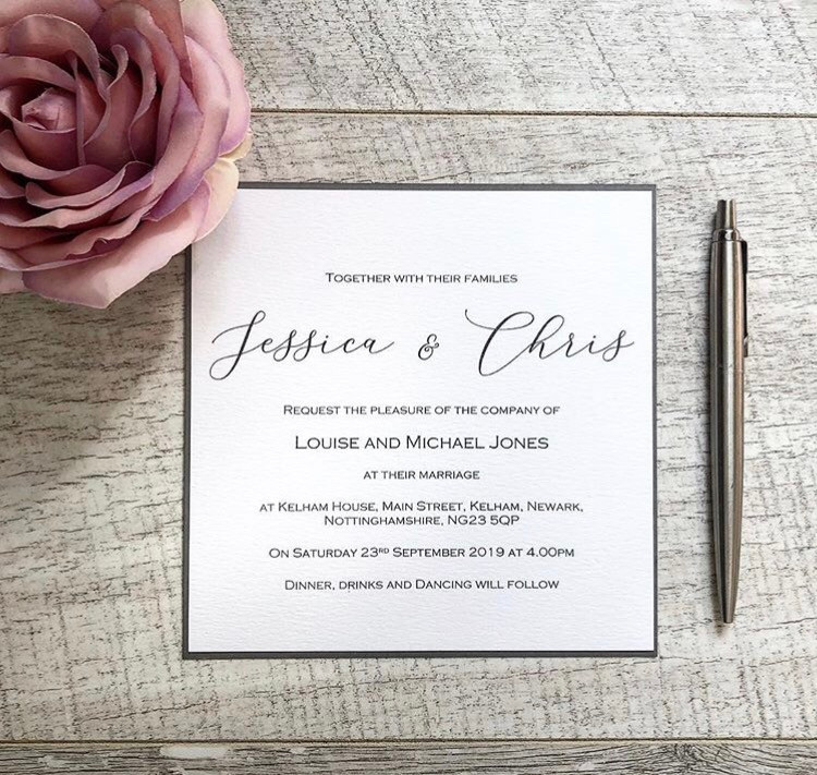 Calligraphy modern wedding invitation