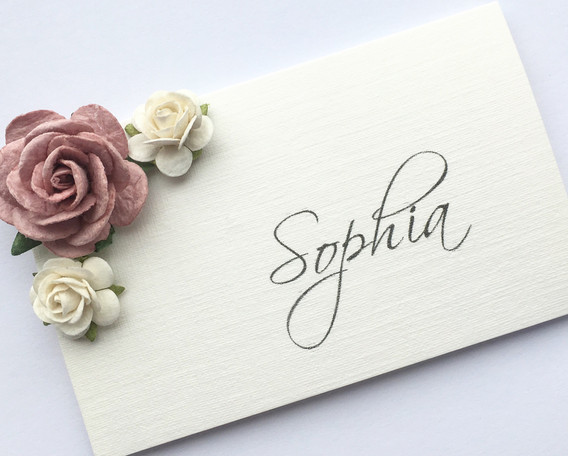 Cherish Wedding Place Card