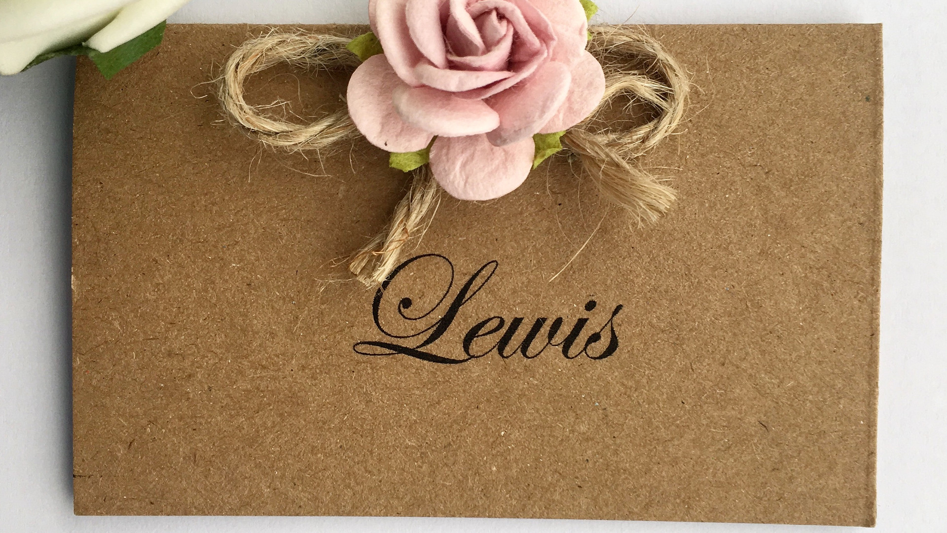 Rustic Love Wedding Place Card