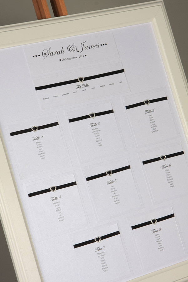 Hearts Table Plan