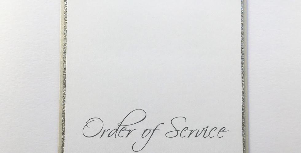 Dedication Order of Service