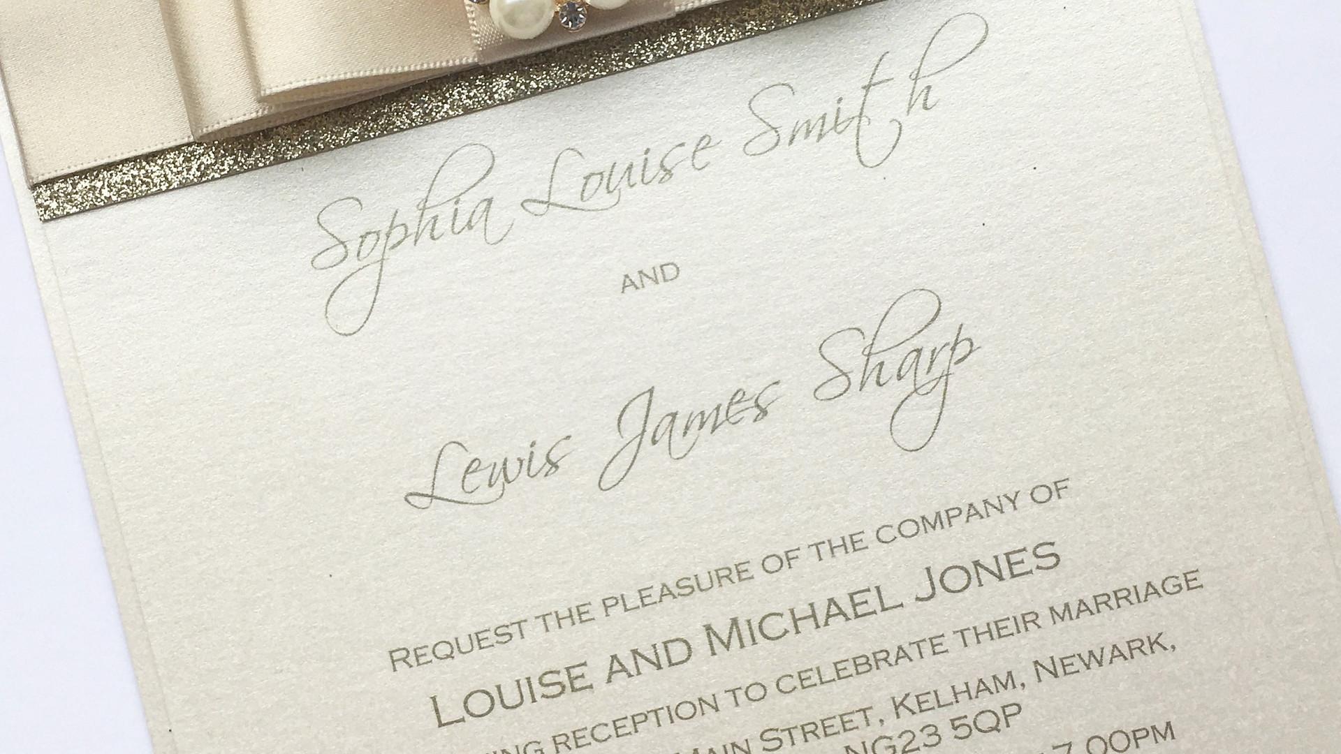 Shimmer Evening Wedding Invitation