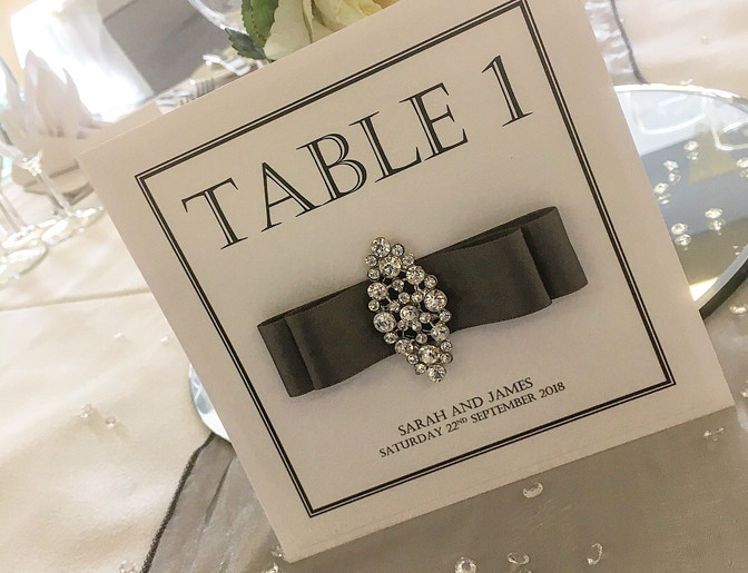 Amour Wedding Table Number