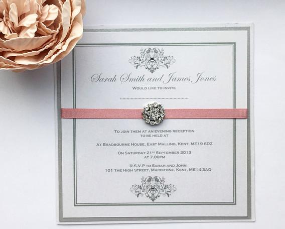 Elegance Evening Wedding Invitation