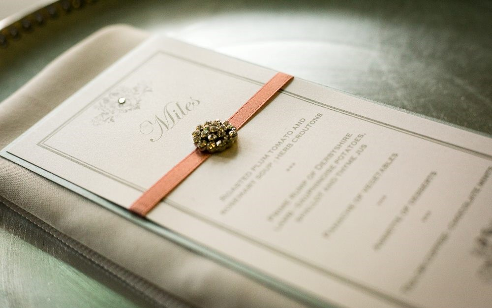 Elegance Individual Menu Place Card (2)