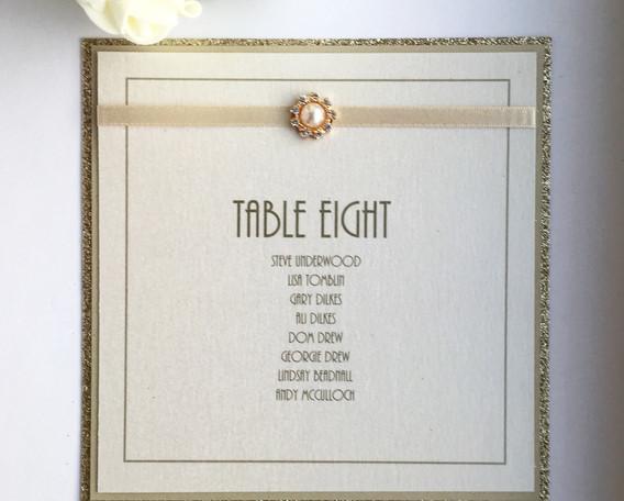 Love Table Plan Card