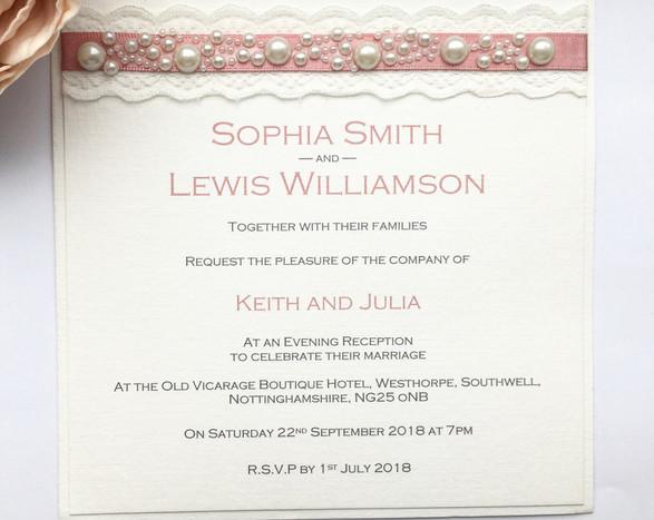 Innocence Evening Wedding Invitation