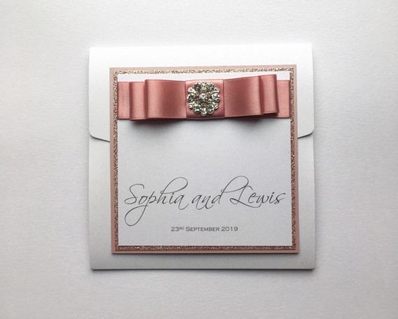 Dedication Pocketfold Wedding Invitation