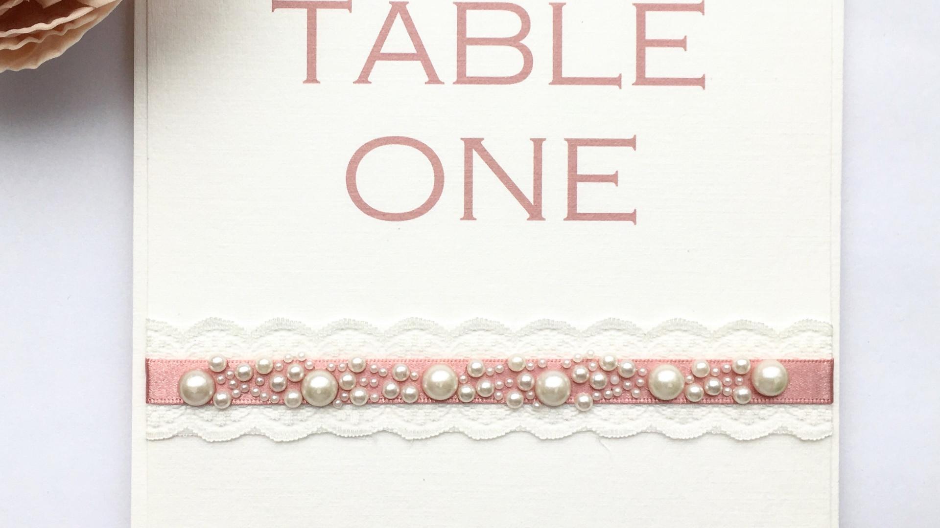 Innocence Wedding Table Number