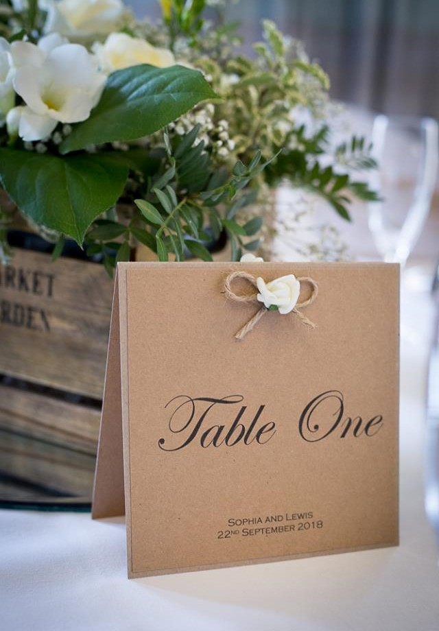 Rustic Charm Table Number (2)