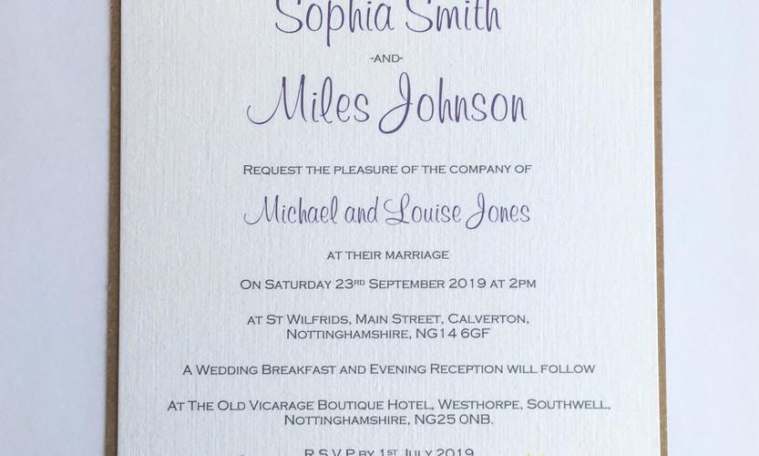 Leah floral wedding invitation