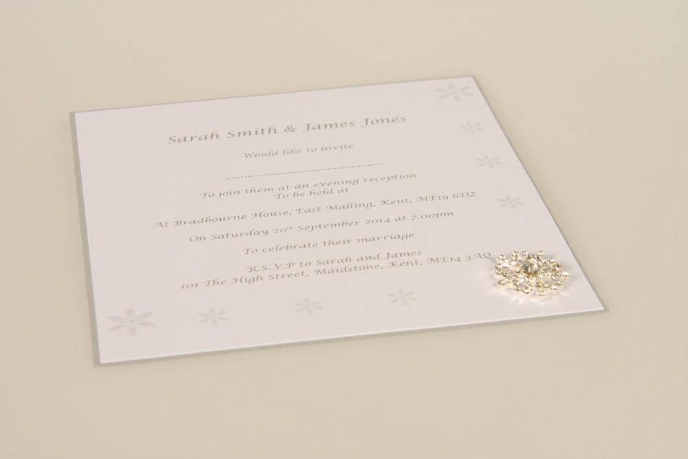 winter wedding evening wedding invitation