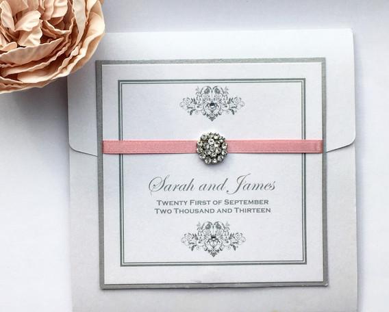 Elegance Pocketfold Wedding Invitation